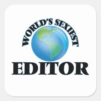 Le rédacteur le plus sexy du monde sticker carré