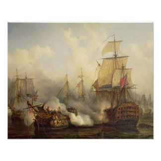 Le Redoutable chez Trafalgar, le 21 octobre 1805 Posters