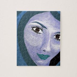 LE REGARD (bleu) Puzzle