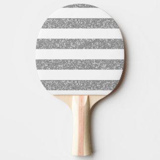 Le regard de scintillement d'étincelle barre la raquette tennis de table