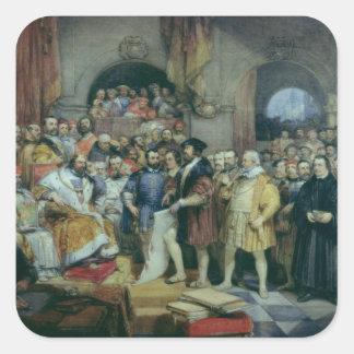 Le régime des flèches, le 19 avril 1529 autocollant carré