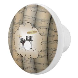 Le ~ réglé de nuage de ~ de tambour a roulé le ~ bouton de porte en céramique