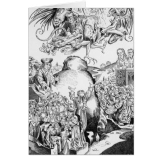 Le règne de l'antichriste carte de vœux