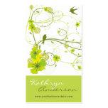 Le remous floral de ketmie verte élégante avale de