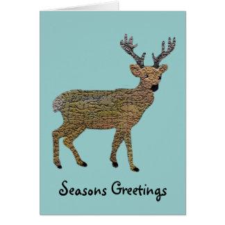 Le renne d'or cartes de vœux