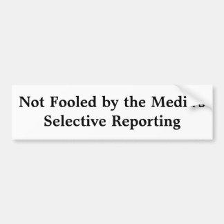 Le reportage sélectif des médias autocollant de voiture