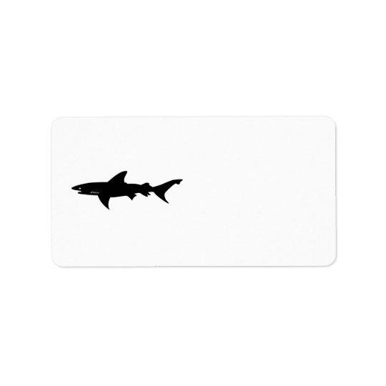 Le requin prennent garde du dessin de requins étiquette d'adresse