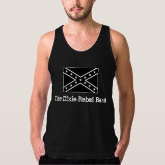 Le réservoir rebelle de noir de bande de Dixie T-shirts Sans Manches