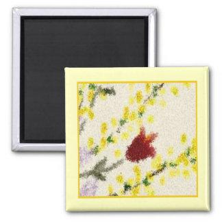 Le ressort de Pointillist fleurit l'aimant