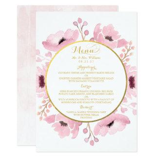 Le ressort dentelle la collection florale de carton d'invitation  11,43 cm x 15,87 cm