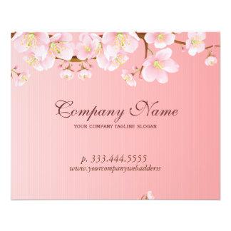 Le ressort doucement rose et blanc fleurit le spa prospectus 11,4 cm x 14,2 cm