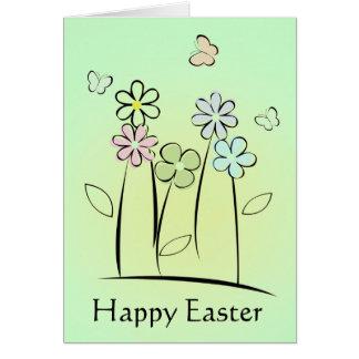 Le ressort fleurit la carte de Pâques