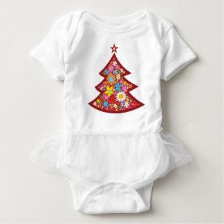 Le ressort fleurit le T-shirt d'arbre de Noël