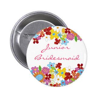 Le ressort fleurit l'étiquette JUNIOR de nom de Pin's