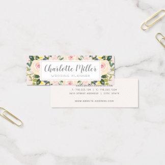 Le ressort floral rougissent carte de visite