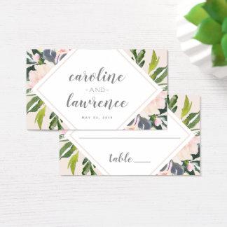 Le ressort floral rougissent carte plate