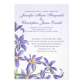 Le ressort pourpre d aquarelle fleurit le mariage bristol