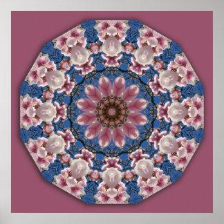 Le ressort se développe 2, mandala-style floral poster