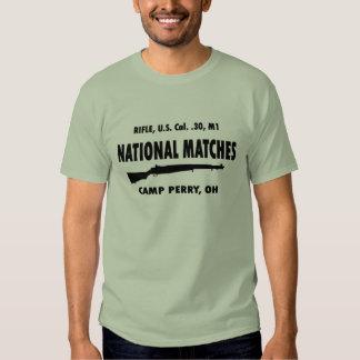 Le ressortissant de Perry de camp assortit M1 Gara T-shirts