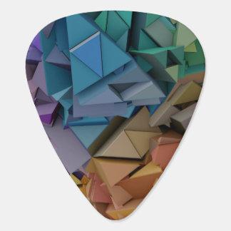 Le résumé 3D géométrique coloré forme l'onglet de Onglet De Guitare