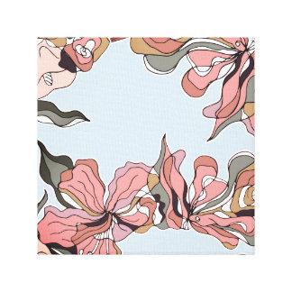 Le résumé audacieux raye l'art floral de mur toile