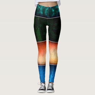 Le résumé barre coloré leggings