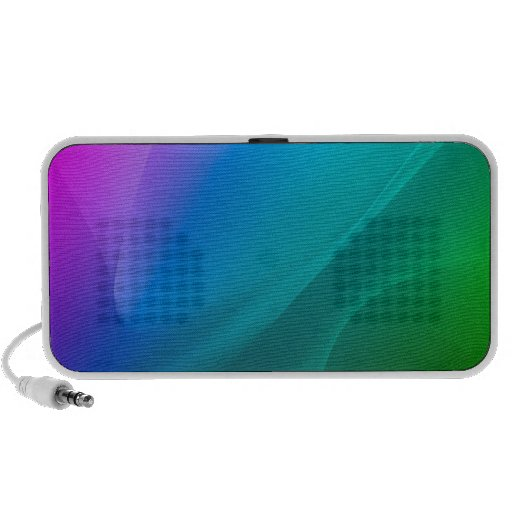 Le résumé colore l'arc-en-ciel classique haut-parleurs PC