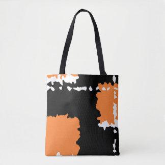 le résumé cristallisent orange de conception et sac