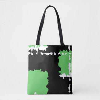 le résumé cristallisent vert noir et le blanc de sac