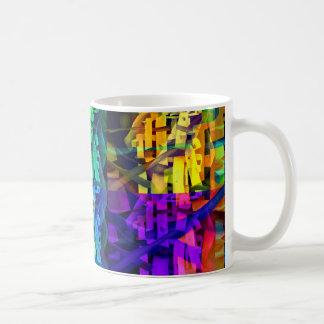 Le résumé cube le pourpre mug