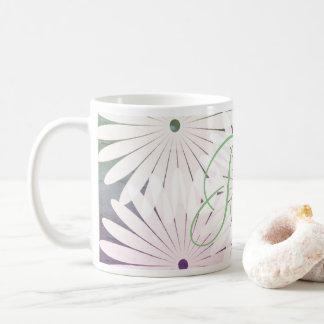 Le résumé fleurit floral ajoutent la tasse