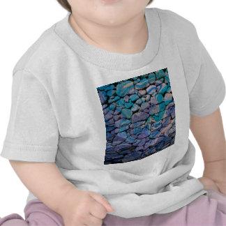 le résumé lapide le bleu t-shirts