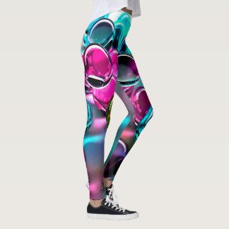 Le résumé marbre l'art leggings
