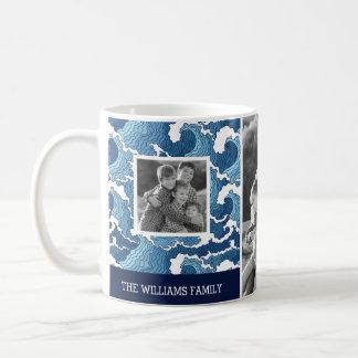 Le résumé ondule les photos de famille de   et le mug