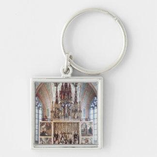 Le retable 1471-81 de St Wolfgang Porte-clé Carré Argenté