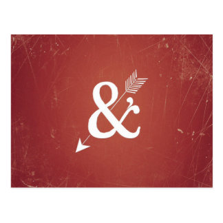 Le rétro amour de flèche vintage de cupidon se carte postale