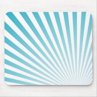 Le rétro bleu de ciel Sun rayonne l'arrière - plan Tapis De Souris