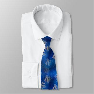 le rétro bleu gaffent le cravate de rockabilly