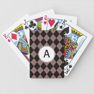 Le rétro cadeau décoré d'un monogramme des hommes jeu de cartes