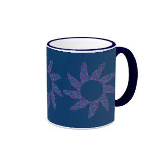 Le rétro cercle génial fleurit personnalisable tasse à café