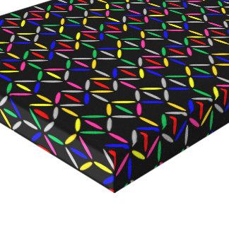 Le rétro diamant génial barre la toile colorée