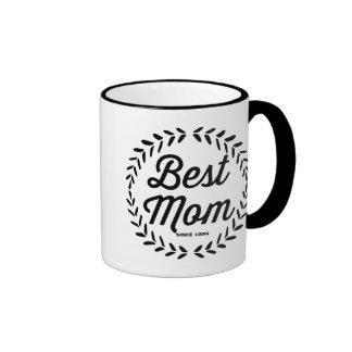 Le rétro jour de mère de la guirlande | de mug ringer
