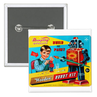 Le rétro kitsch vintage badine le kit en bois de r badges