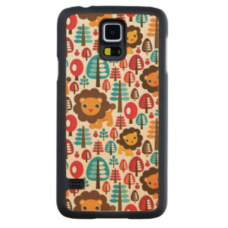 le rétro lion mignon badine l'illustration coque slim galaxy s5 en érable