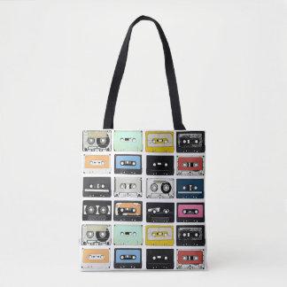 Le rétro mélange vintage de cassette attache du sac