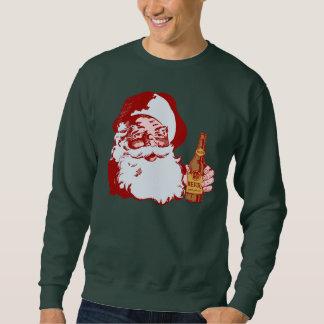 Le rétro père noël avec Noël de bière Sweatshirt