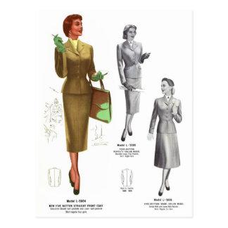 Le rétro usage de femmes vintage de mode de kitsch carte postale