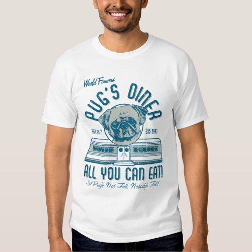 Le rétro wagon-restaurant vintage du carlin de t-shirts