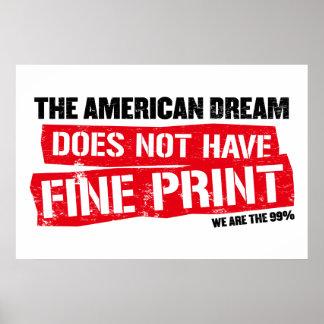Le rêve américain n'a pas l'impression fine poster