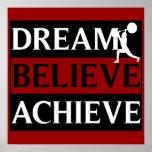 Le rêve croient réalisent l'affiche d'haltérophili